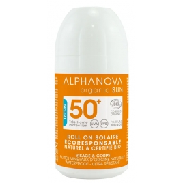 Alphanova Roll On sport extrême solaire très haute protection SPF 50+ 50g Alphanova