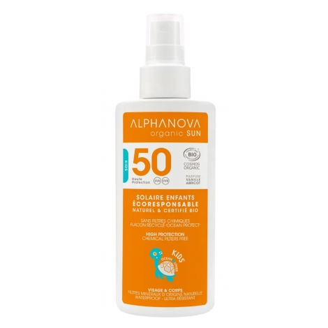 Alphanova Spray solaire pour enfants très haute protection SPF 50 Kids 125g Alphanova