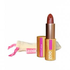 Zao Rouge à lèvres 404 Nacré Brun Rouge 3.5g Zao Make Up Anti-âge / Beauté Onaturel.fr