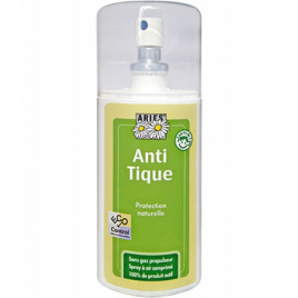 Aries Spray anti tiques répulsif naturel 100ml Aries Anti-mites / Anti-moustiques / Anti-insectes Onaturel.fr