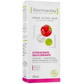 Crème Active Jour Hydratante Equilibrante Formule + Dermaclay 50ml