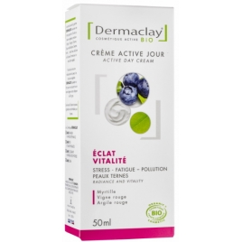 Crème de jour Eclat Vitalité Dermaclay Stress Fatigue Pollution 50ml Dermaclay  Soins de jour Bio Onaturel.fr