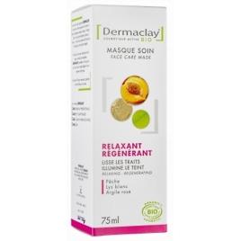 Dermaclay Masque Express Relaxant Régénérant Nectar de Pêche 75ml Dermaclay  Masques Bio Onaturel.fr