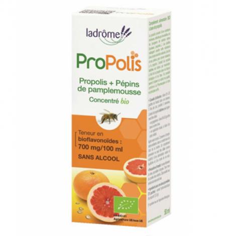 Ladrome Concentré de Propolis et de Pépins de Pamplemousse sans alcool 50ml Ladrome Immunité Onaturel.fr