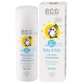 Eco Cosmetics Crème solaire bébé indice 50+ neutre peaux très sensibles sans parfum 50ml