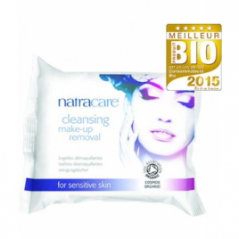 Natracare 20 Lingettes démaquillantes 200g Natracare Categorie temp Onaturel.fr
