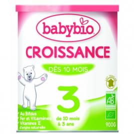 Babybio Lait de croissance de 10 mois à 3 ans 900g Babybio Laits infantiles Bio Onaturel.fr