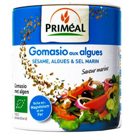 Primeal Gomasio aux Algues, Sésame complet et Sel marin 100g Primeal