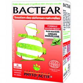 Phyto-Actif Bactear Confort et hygiène 45 capsules Phyto-Actif Categorie temp Onaturel.fr