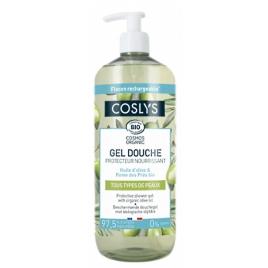Coslys Gel douche protecteur et nourrissant à l'huile d'olive bio 1 L bulle de douceur Onaturel