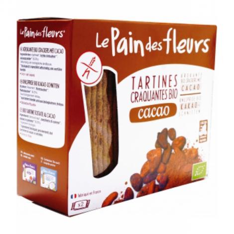 Le Pain Des Fleurs Tartines craquantes Cacao 160g Le Pain Des Fleurs