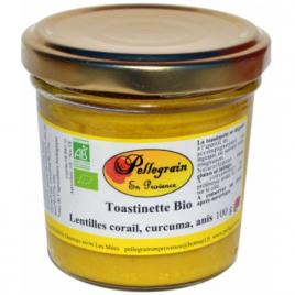 Pellegrain En Provence Toastinette Lentille corail Curcuma et Anis 100g