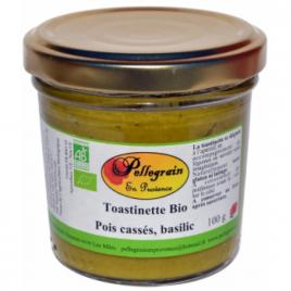Pellegrain En Provence Toastinette Pois cassés et Basilic 100g  Shampooings Bio et Soins capillaires Onaturel.fr