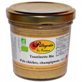 Pellegrain En Provence Toastinette Pois chiches et Champignons 100g  Shampooings Bio et Soins capillaires Onaturel.fr