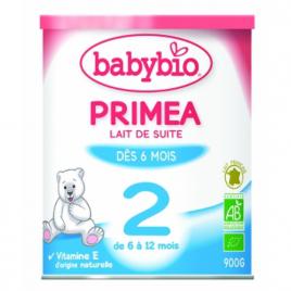 Babybio Lait Primea 2 de 6 à 12 mois 900g Babybio Alimentation bébé Onaturel.fr