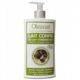 Oleanat Lait corporel au lait d'ânesse 250ml Oleanat Categorie temp Onaturel.fr