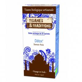 Tisanes Et Traditions Détox Recharge (Anis Fenouil Coriandre) 20 sachets Tisanes Et Traditions
