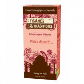 Tisanes Et Traditions Plaisir Digestif... Recharge (Chicorée Anis Fenouil) 20 sachets