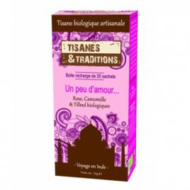 Tisanes Et Traditions Un peu d'amour... Recharge (Rose Camomille et Tilleul) 20 sachets