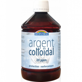 Biofloral Argent Colloïdal Naturel 20 PPM 500 ml Biofloral Soins du corps Bio Onaturel.fr