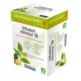 Nutrigee Infusion Minceur 10 plantes 30 sachets Nutrigee Shampooings Bio et Soins capillaires Onaturel.fr