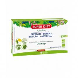 Super Diet Quatuor Pissenlit drainage 20 ampoules de 15ml Super Diet