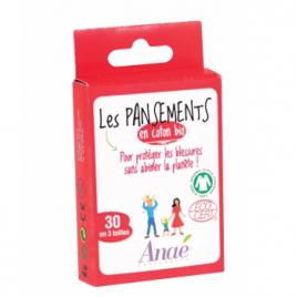 Anae 30 Pansements coton bio 3 tailles Anae Accessoires Bio Onaturel.fr