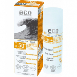 Eco Cosmetics Crème Solaire indice 50+ SURF  et  FUN Grenade et Macadamia 50ml