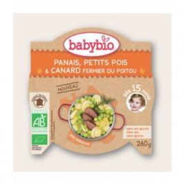 Babybio Mon Assiette Panais Petits pois et Canard fermier dès 15 mois 260g Babybio Assiettes / Bols bébé bio Onaturel.fr