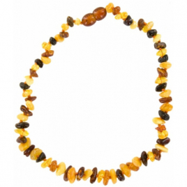 La boutique de L'Ambre Collier d'ambre bébé Chips multicolore avec Fermoir La boutique de L'Ambre Categorie temp Onaturel.fr