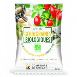 Comptoirs Et Compagnies Mix de Goji et Graines Chips de coco bio 30g Comptoirs Et Compagnies Goûter / Confiserie Onaturel.fr