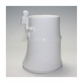 Zen Arôme Brûle Parfum en céramique Bambou Blanc 500g