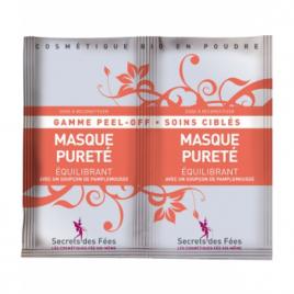 Secrets Des Fees Masque Peel off visage pureté équilibrant à faire soi même 2x8g Secrets Des Fees Categorie temp Onaturel.fr