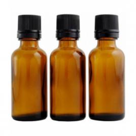 Centifolia Lot de 3 flacons ambres codigouttes vides 30ml