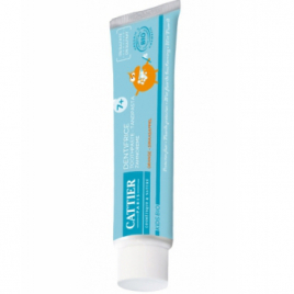 Cattier Dentifrice enfants 7ans et + protection fluor goût orange 50ml Cattier Dentifrices bio Onaturel.fr