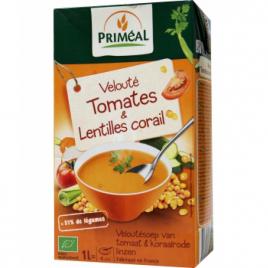 Primeal Velouté de Tomates et lentilles corail 1L Primeal