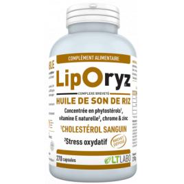 Liporyz Huile de Son de Riz 200 capsules LT Labo Lt Labo Compléments Alimentaires Bio Onaturel.fr