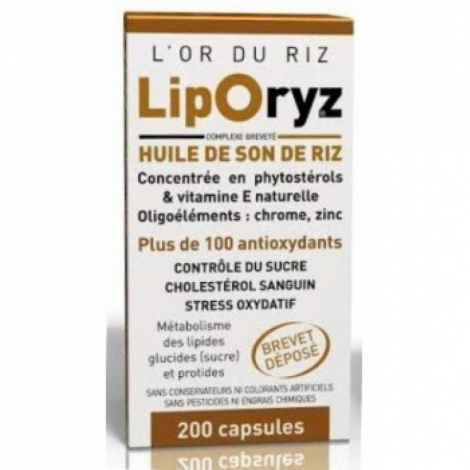 Liporyz Huile de Son de Riz 200 capsules LT Labo Lt Labo