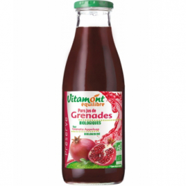 Vitamont Pur jus de grenades bio 1L Vitamont Jus de Fruits Bio Onaturel.fr