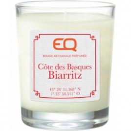 EQ Bougie artisanale parfumée Côte des Basques Biarritz 180g EQ Aromathérapie Bio Onaturel.fr