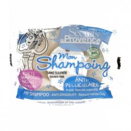 Secrets De Provence Mon shampoing solide anti pelliculaire argile blanche avec crochet 85g