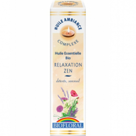 Biofloral Huile d'ambiance Relaxation Zen 10ml Biofloral Synergie huiles essentielles Bio Onaturel.fr