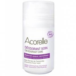 Acorelle Déodorant soin spécial peaux sensibles cristaux d'alun et eau florale de camomille 50ml Acorelle