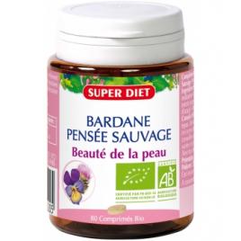 Super Diet Bardane Pensée Sauvage bio 80 comprimés 28g Super Diet Accueil Onaturel.fr