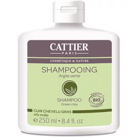 Cattier Shampoing à l'argile verte pour cheveux gras 250ml Cattier Gels douche - bains moussants Onaturel.fr