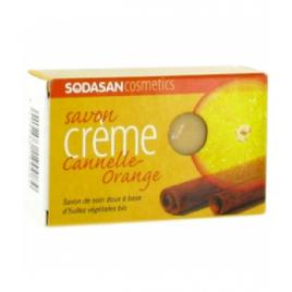 Sodasan Savon crème Cannelle Orange 100g Sodasan Accueil Onaturel.fr