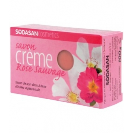 Sodasan Savon crème Rose Sauvage 100g Sodasan Accueil Onaturel.fr