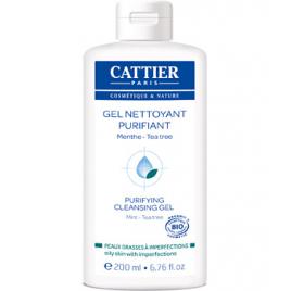 Cattier Gel nettoyant purifiant Peaux jeunes à problèmes 200ml Cattier Accueil Onaturel.fr