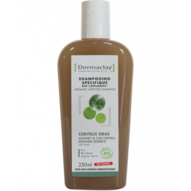 Dermaclay Capilargil à l'Argile verte cheveux gras et pellicules 400ml Dermaclay  Shampooings Cheveux gras Onaturel.fr