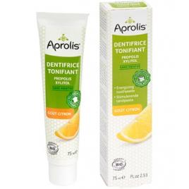 Aprolis Dentifrice Tonifiant sans menthe Propolis et xylitol aromatisé au Citron 75ml Aprolis Dentifrices bio Onaturel.fr